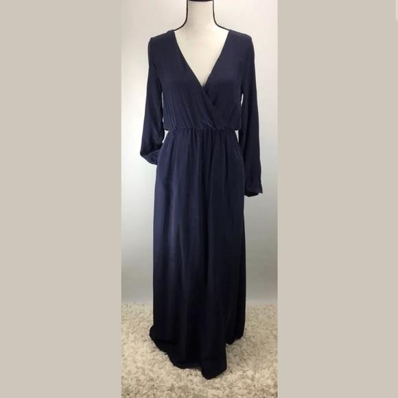 0f698389894 Annie Bing Dress SZ S Surplice Silk Maxi NWT H657